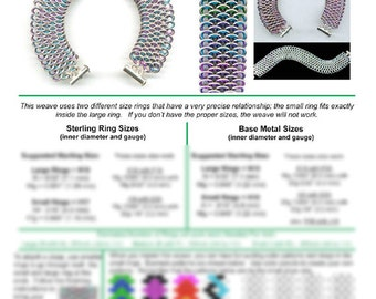 Chainmaille Tutorial - Dragonscale (Advanced) - PDF