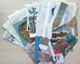 Vintage Ephemera Collage Material Paper Scrapbooking Journaling