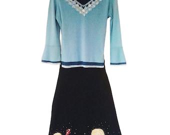 Blue Lace long sleeve