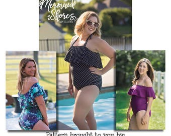 Mermaid Shores Collection- Mama Camila Swimsuit PDF Pattern instant download