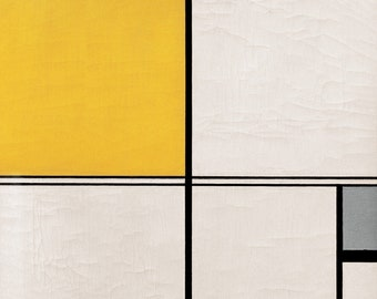 Piet Mondrian Composition with Double Line and Yellow and Grey (Composition B), 1932