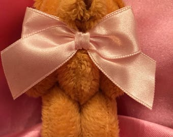 Teddy Bear with Pink Bow Tie Hair Clip