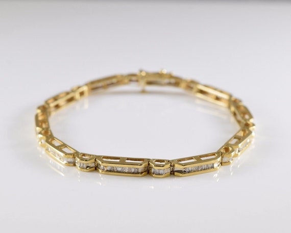 bracelet yellow aurafin lightly nice gold dwt worn