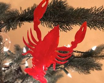Christmas Crawfish Ornament