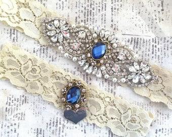 Wedding Garter Blue, Wedding Garter Set blue, blue garter set, blue wedding garter, blue garter, blue garter wedding, blue garter belt,