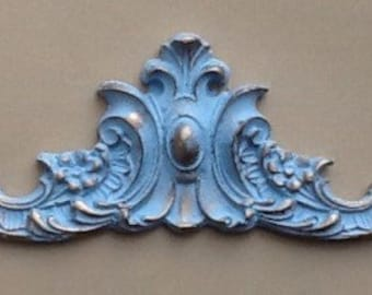 Decorative pediment moulding shabby chic embellishment painted