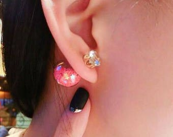 2 Way To Wear Earring / Women Stud Earring