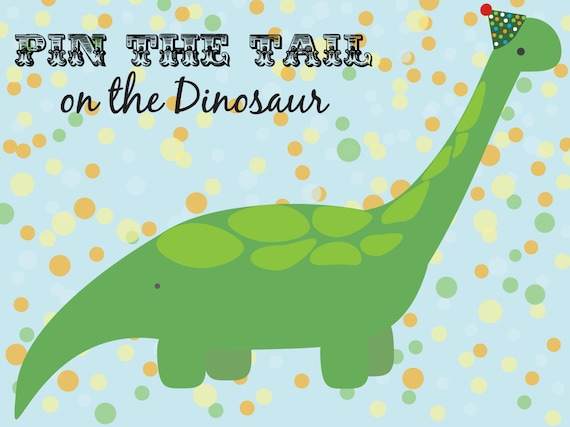 Pin the Tail on the Dinosaur