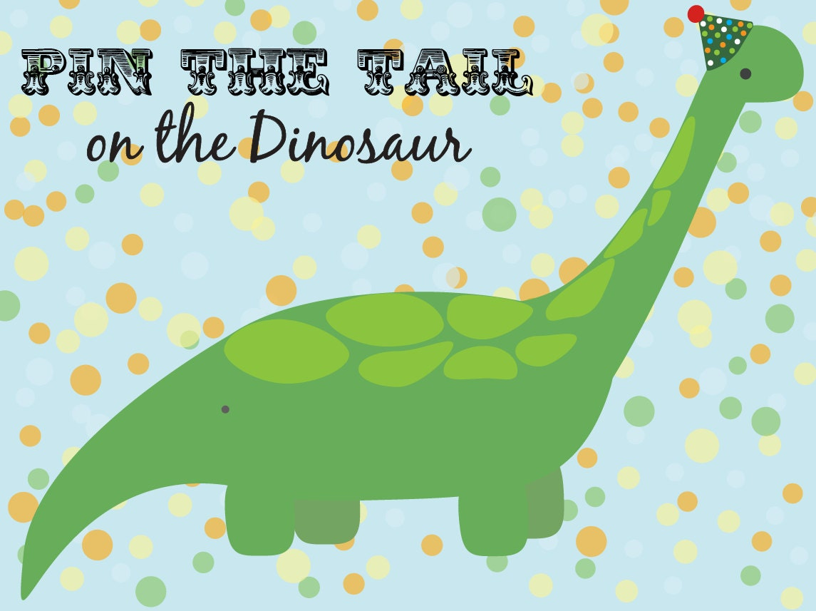 pin the tail on the dinosaur template - pin the tail on the dinosaur
