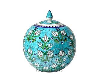 Iznik Design Handmade Ceramic Jar - 25cm/10''