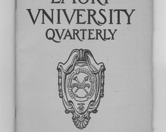 A 1948 the emory university quarterly  Atlanta Ga.