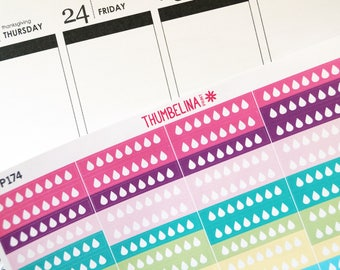 Hydrate Planner Stickers for Erin Condren and More (TP174)