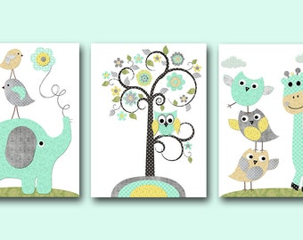 Kids Room Decor INSTANT DOWNLOAD Print Baby Nursery Decor Digital Art Baby Boy Nursery Decor Digital Print Download set of 3 8x10 11X14 gray