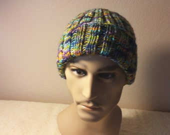 Colorful Watch cap 100% wool Adult size
