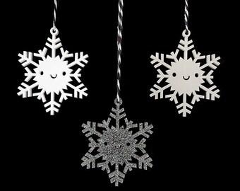 Snowflake Ornament - Kawaii Acrylic Christmas Tree Decorations