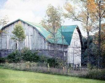 Barn Photo, Old Barn Photography, Rustic Farmhouse Decor, Country Barn Photography, Farmhouse Wall Decor, Autumn Barn, Rustic Barn Photo