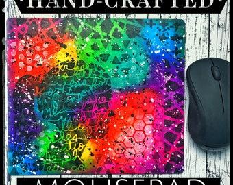 Hand painted Mixed Media Mousepad