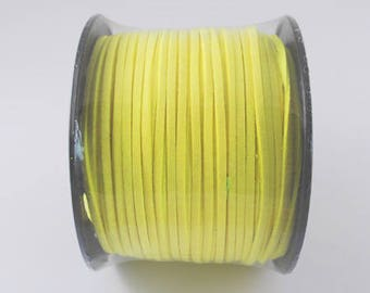 Light yellow suede cord, faux suede, 3mm sold per 1 M