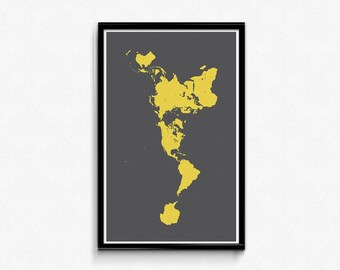 Buckminster fuller etsy buckminster fuller dymaxion map poster charcoal seas gumiabroncs Choice Image