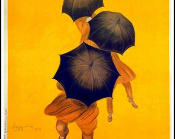Rain Umbrella Ad Revel Paris Print - 1922