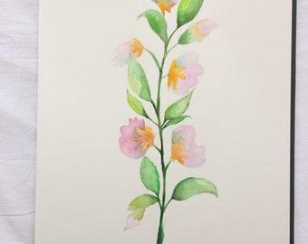 Handmade Watercolor flower painting