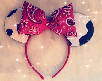 Toy Story Cowgirl Jessie Inspired Disney Ears Minnie Vacation Land World Headband Handmade