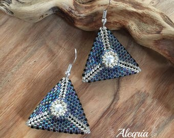 peyote earrings SWAROVSKI elements