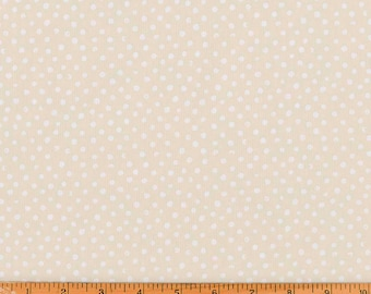 Dear Stella Cream Polkadot Cotton Quilt Fabric