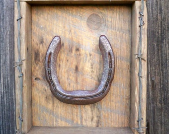 Horse Shoe Shadow Box Wall Decor