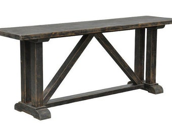 Console Table, Reclaimed Wood, Coffee Table, Handmade, Rustic, Media Console
