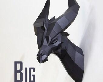 Big Black Dragon - Premium Papercraft Kit
