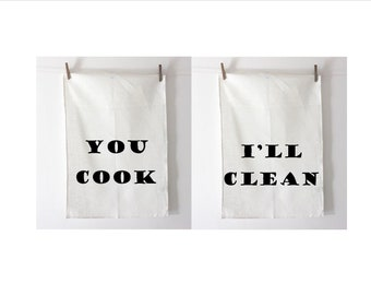You Cook - I'll Clean Tea Towel Set