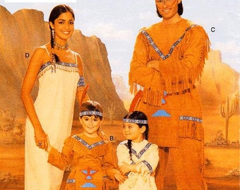 Butterick Child's Costume Pattern 4171 B - Children's Costume Pattern - Native American Indian Costumes - All Child Sizes Included