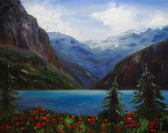 Original Oil Painting ''My Alberta''. Oil Painting on Canvas 24'' x 30''