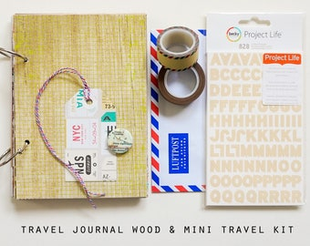 Mixed Papers Travel Journal and Mini Travel Kit