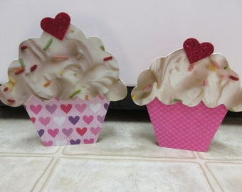 Valentine Decor-Valentine Cupcakes-Valentine's Day Shelf Sitters