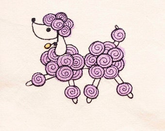 Poodle Tea Towel | Dog Lover Gift | Embroidered Kitchen Towel | Embroidered Towel | Embroidered Tea Towel | DishTowel | Hand Towel
