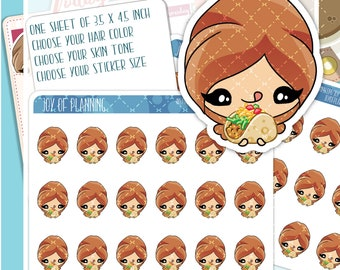 Taco stickers, taco planner, tacos takeaway stickers, Chipotle stickers, fast food planner, fast food stickers JOP006