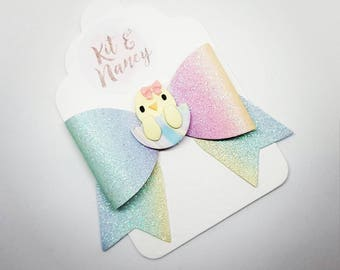 Easter Bow Hair Clips // Easter Bunny or Chick Hair Clips // Easter Hair Slides // Cute Baby Hair Clip // Easter Gift // Rabbit / Easter Egg