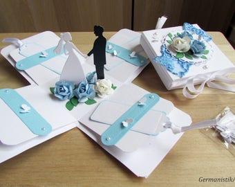 Wedding card in a box, Wedding pop up Card, Wedding Exploding box, 3D Wedding card, Romantic Card, Custom wedding card