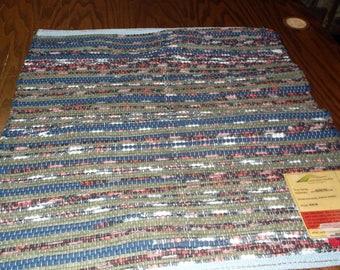 Handwoven Rag Rug (Wicker Box,26)-256s