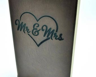 Mr. & Mrs. Leatherette Journal - Free Shipping!