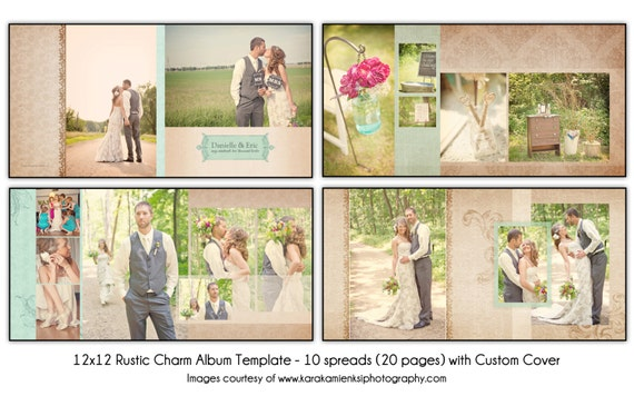 wedding book cover template