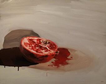 Pommegranate Study, Original Oil Painting
