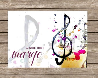 Music Note Stationery - Set of 20