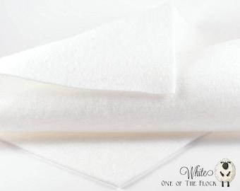 White Wool Felt, Wool Felt Yardage, Wool Felt by the Yard, Wool Blend Felt, Wool Felt Fabric, White Felt Yardage, White Felt Fabric, Felt