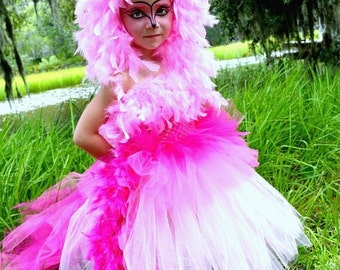 Pink Flamingo Costume -  Pink Flamingo Tutu Dress - Pink Flamingo - Costume Pink Flamingo - Flamingo Costume - Flamingo Costume for toddler