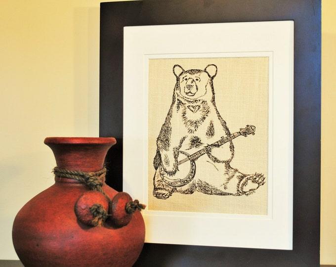 Brown Bear Wall Hanging - Dining Room Art - Animal Art - Office Wall Art - Wall Art for Nursery - Art Work - Print Art - Modern Art Prints