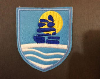 Patch Coat of Arms Sermersooq - Greenland - Nuuk - Polar Bear - Arctic - White Bear - Inuit - Danmark