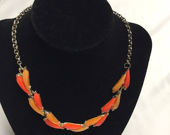 Vintage Coral and Orange colored Necklace